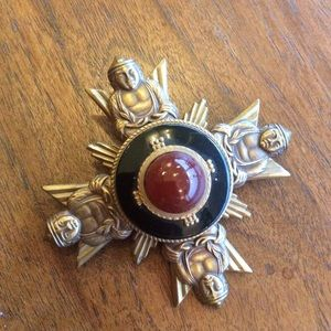 Buddha Carnelian Onyx Sun PIN Pendant